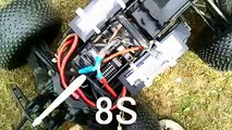 HPI Savage Flux HP with 8s LIPO, standing double backflip!!! :D