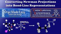 Converting Newman Projections to Bond-Line Structures Made Easy! - Organic Chemistry