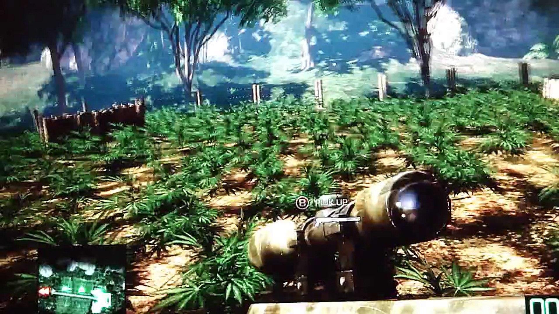 Huge Marijuana Field in Battlefield Bad Company 2 - Awesome Video in HD!