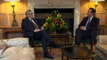 David Cameron chats with Jean-Claude Juncker