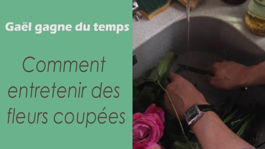 L'astuces pour entretenir des fleurs coupées - Gaël gagne du temps