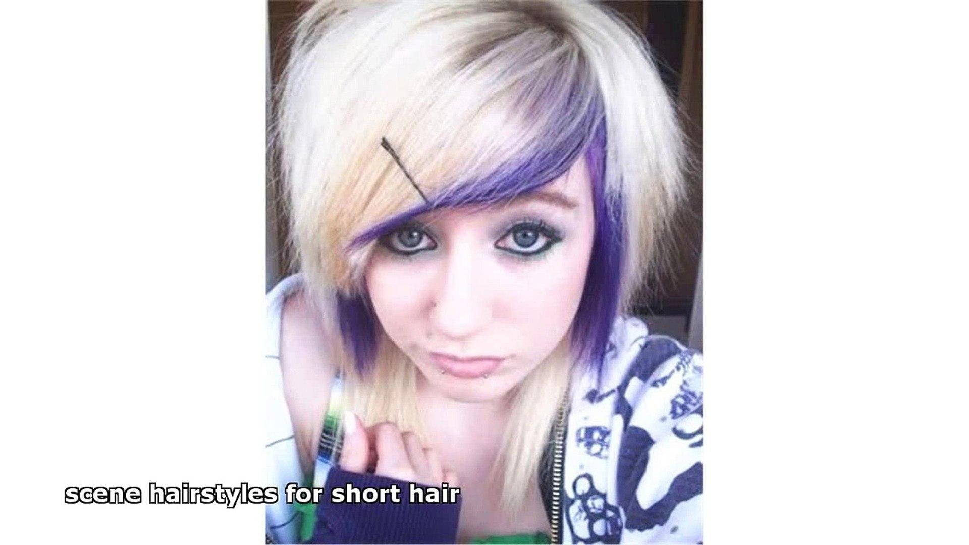 scene hairstyles for short hair