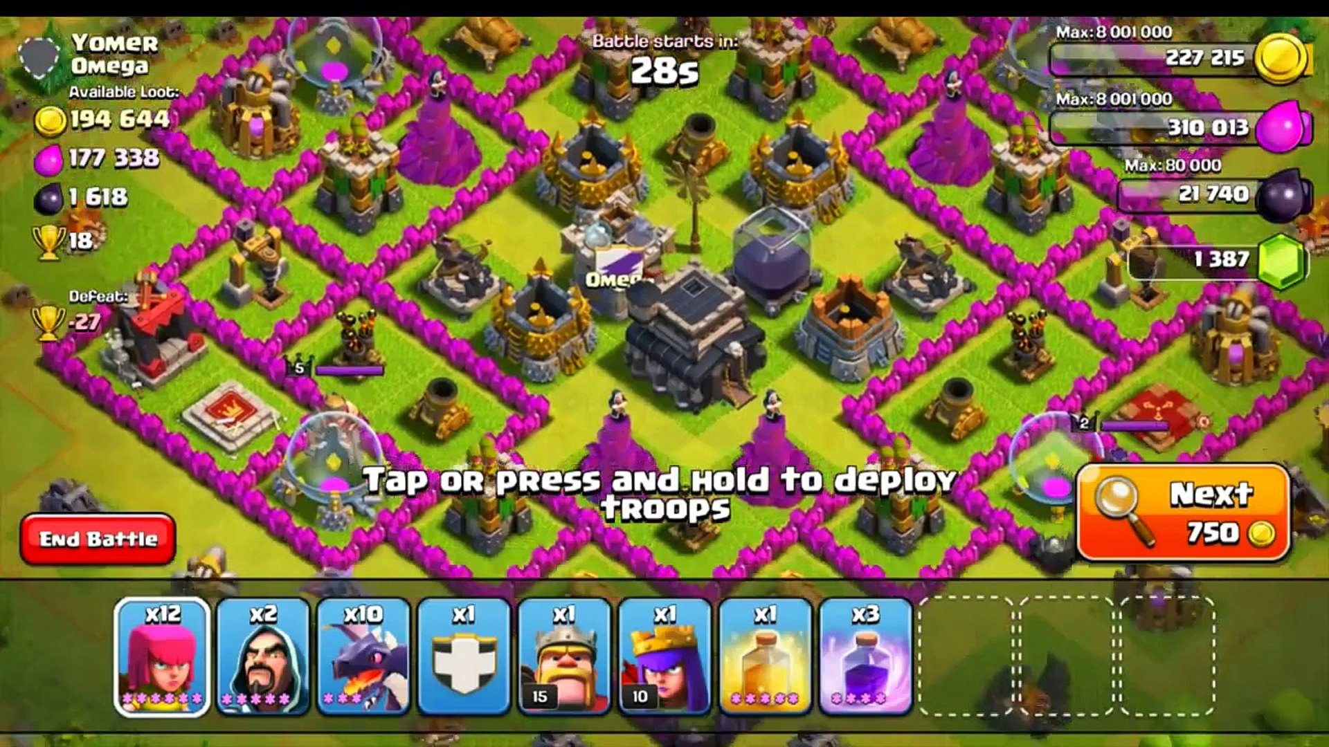 CLASH OF CLANS - HOW TO TRAIN YOUR DRAGON + TH9 DEFENSE REPLAYS