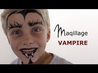 Maquillage Vampire - Tutoriel maquillage enfant facile