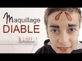 Maquillage Diable - Tutoriel maquillage enfant facile