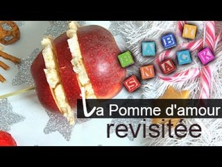 Baby Snack : la pomme d'amour revisitée