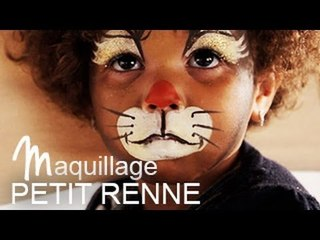 Maquillage Renne de Noël  - Tutoriel maquillage enfant facile