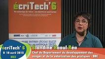 """Blandine Raoul-Réa, animatrice de la TR """"La pratique numérique des élèves et l'évolution de la construction de soi"""""""