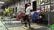 Olympic Weightlifting 2-6-15 - Clean Pull on Riser, Clean, Jumping Squat, Clean Pull