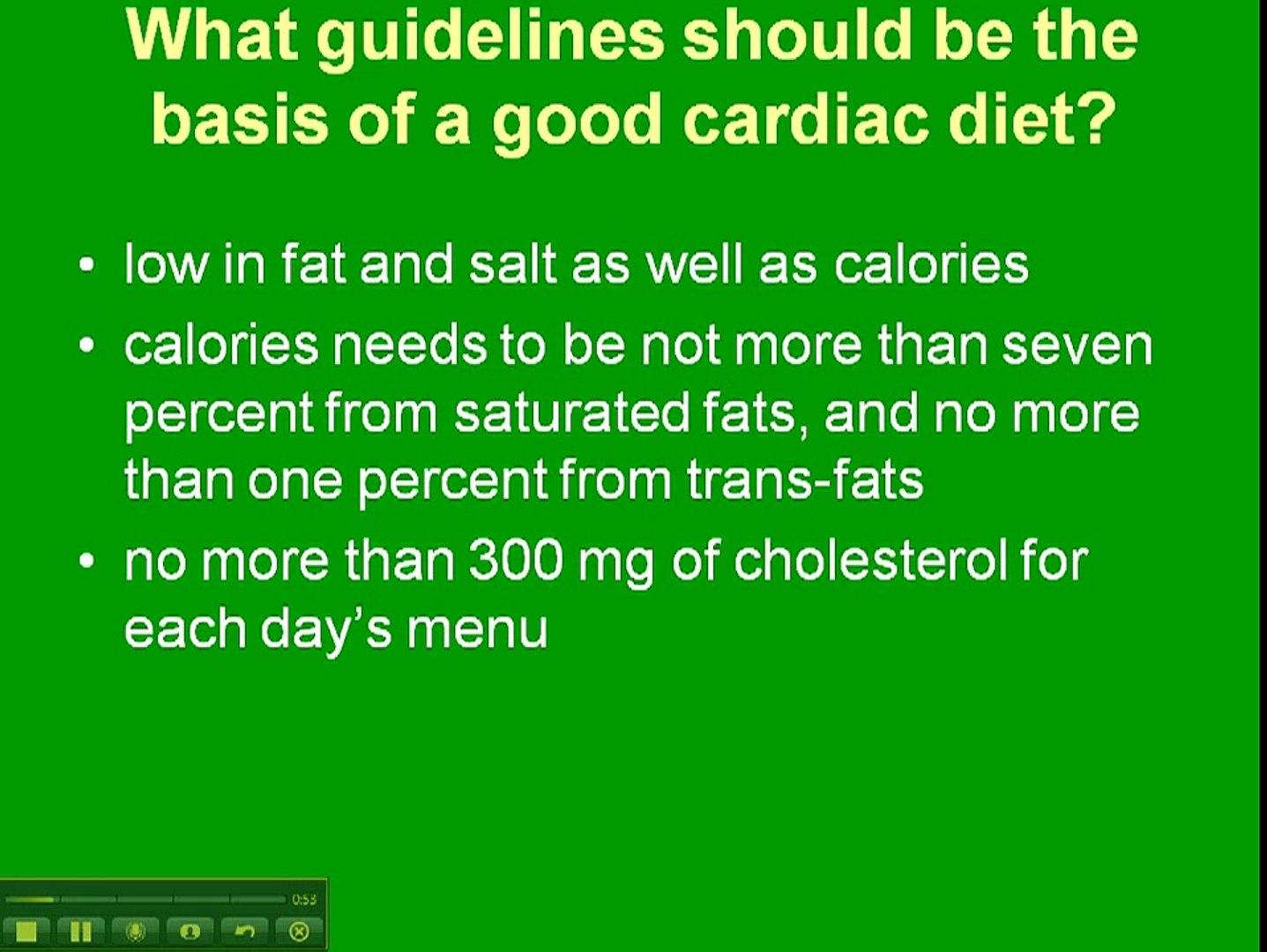 Cardiac Diet Menu Plan Video Dailymotion