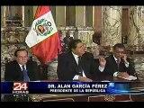 Alan Garcia felicita a Ollanta Humala
