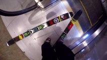 GoPro : Escalator Ski Drop