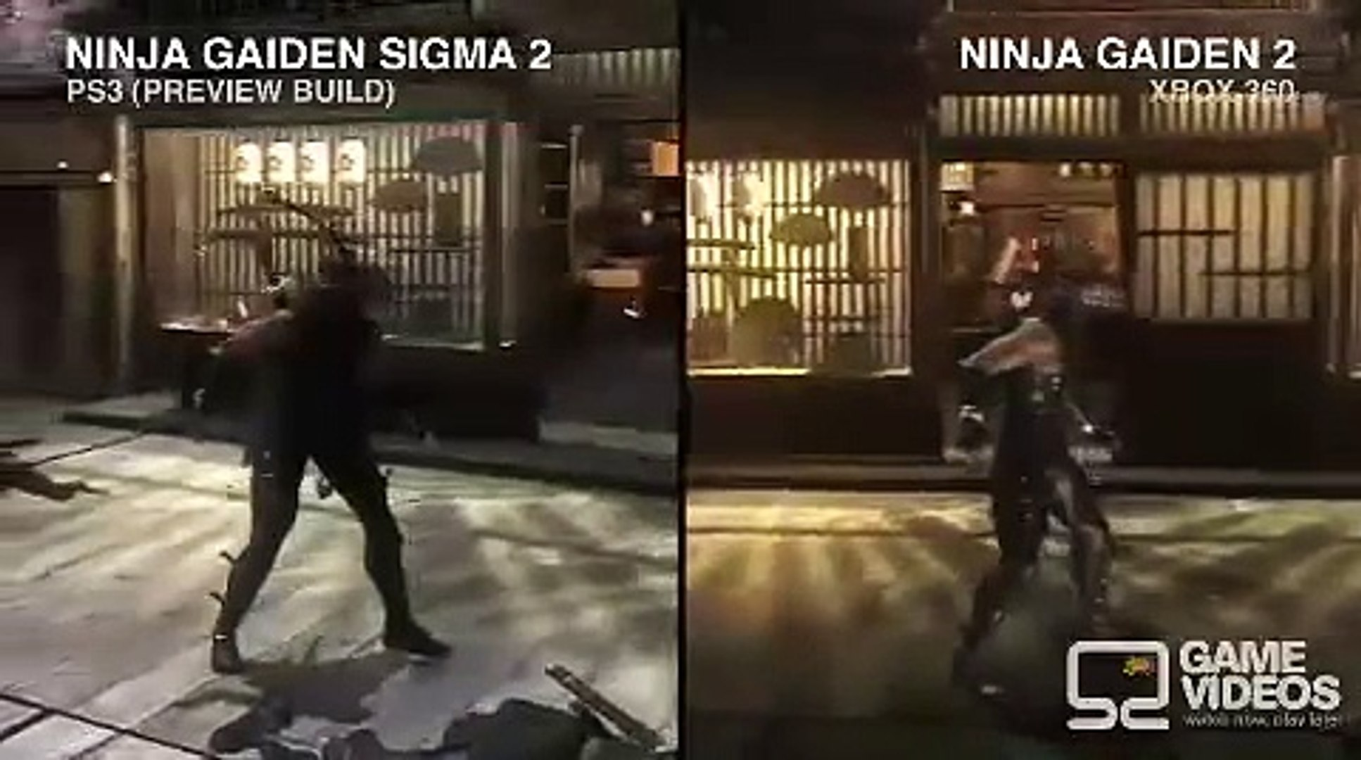 Ninja Gaiden Sigma 2 Ps3 Vs Ninja Gaiden 2 Xbox 360 Video