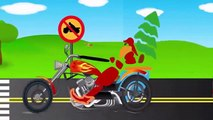 Learn Traffic Signs and Symbols with Monster Street Vehicles and Trucks for Kids Part 4