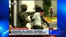 Noticiero Telemundo   Imágenes del Chapo Guzmám tras ser arrestado en México   Telemundo Noticias