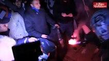 """Napoli, protesta degli ultras: """"Contro la tessera del tifoso, bruciamo quella elettorale""""(24/02/2013"""