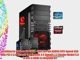 dercomputerladen Gamer PC System Intel i5-4690 4x35 GHz 8GB RAM 500GB HDD Radeon R9 280X -3GB