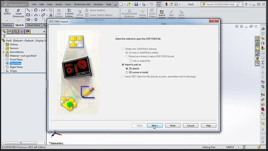 SolidWorks Tutorial 010 Importing  DXF Tips