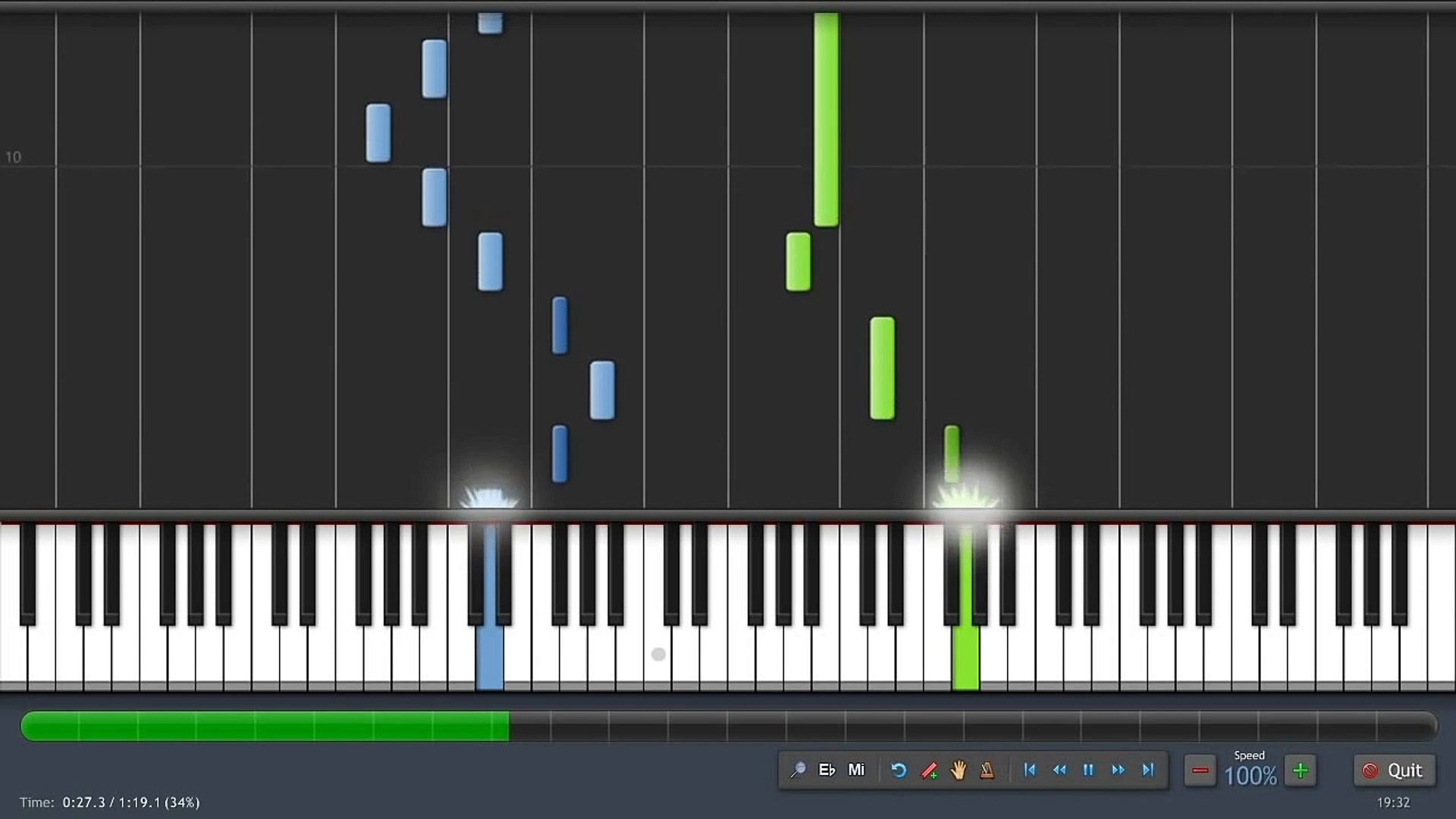 Minecraft - Wet Hands - Piano Tutorial (100% Speed) Synthesia