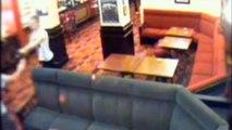 NO AUDIO CCTV Shows Chainsaw Terror For Pub Customers