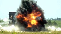 Missiles Fired in Slow Motion by the New Lockheed Martin Long Range Surveillance & Attack Vehicl... (HD)