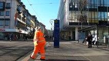 Ralph Boes in Kassel - Stand in der Fußgängerzone (10.März 2014)