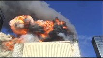 911 South Tower Impact - Rooftop From The East With Slow Motion Zoom