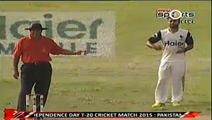Check out the Reaction of Gen Raheel Sharif when an Army Officer hit the Winning Shot