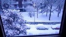 panasonic fz38 snow storming from  padua  padova neve dicembre 2009 hd