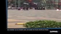 Un homme tue une femme avec un sabre en plein centre de Pékin