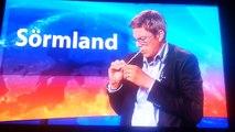 Fredrik Ahl på SVT Sörmland spårar ur (bra kvalitét) - Kebabtekniker!