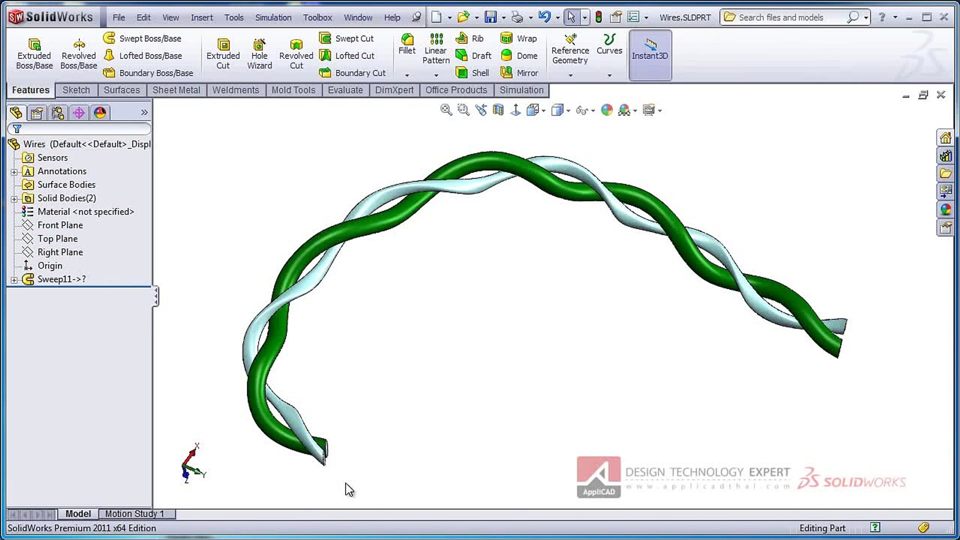 SolidWorks Twist Along Path | SolidWorks Swept Boss/Base | SolidWorks Swept  Boss Base
