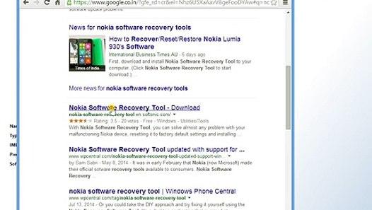 How to repair nokia lumia through nokia software recovery
