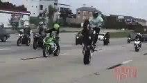 [Motorcycle Crash]  ACCIDENT Highway WHEELIE Gone Wrong Street CRASH Riding WHEELIES FAIL Video 2015