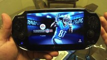 PS Vita NFL Madden 13 Unboxing and Look at Features
