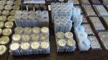 Full Silver Stack 635+ oz. Junk Silver, American Silver Eagle, Bars, World Coins