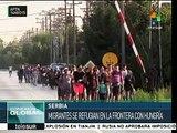 Refugiados sirios llegan a Serbia tras varios días de camino