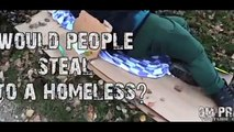 Dm Pranks! Would people steal from the homeless! (Social Experiment)