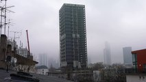 Letzte Warnung vor Sprengung des Uni-Turm in Frankfurt - AfE-Turm Sprengung [HD]
