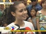 Megan Young visits typhoon survivors