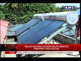 How solar heating system help inmates in Davao