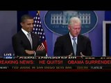 OBAMA QUITS!!  BILL CLINTON TAKES OVER THE PRESIDENCY!!