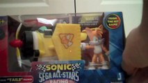 Sonic and Sega All Stars Racing Tails and jazwares Tails Plush Unboxing and review