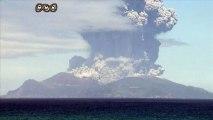 Les habitants d'une petite île japonaise évacués après l'éruption d'un volcan