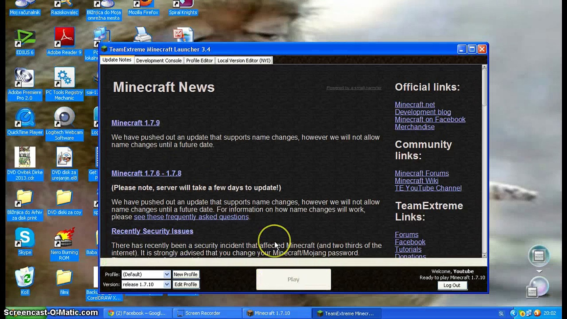Dating servere Minecraft 1.7.9