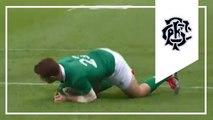 Paddy Jackson try | Ireland 21-22 Barbarians