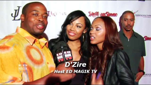 Meagan Good and LaMyia Good Celebrity Interview at Area