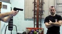 KRAV MAGA TRAINING • Fastest gun disarm (held with Both Hands)
