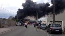Incendie à Artois Métaux à Saint-Laurent-Blangy