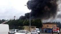 Incendie à Artois Métaux, à Saint-Laurent-Blangy